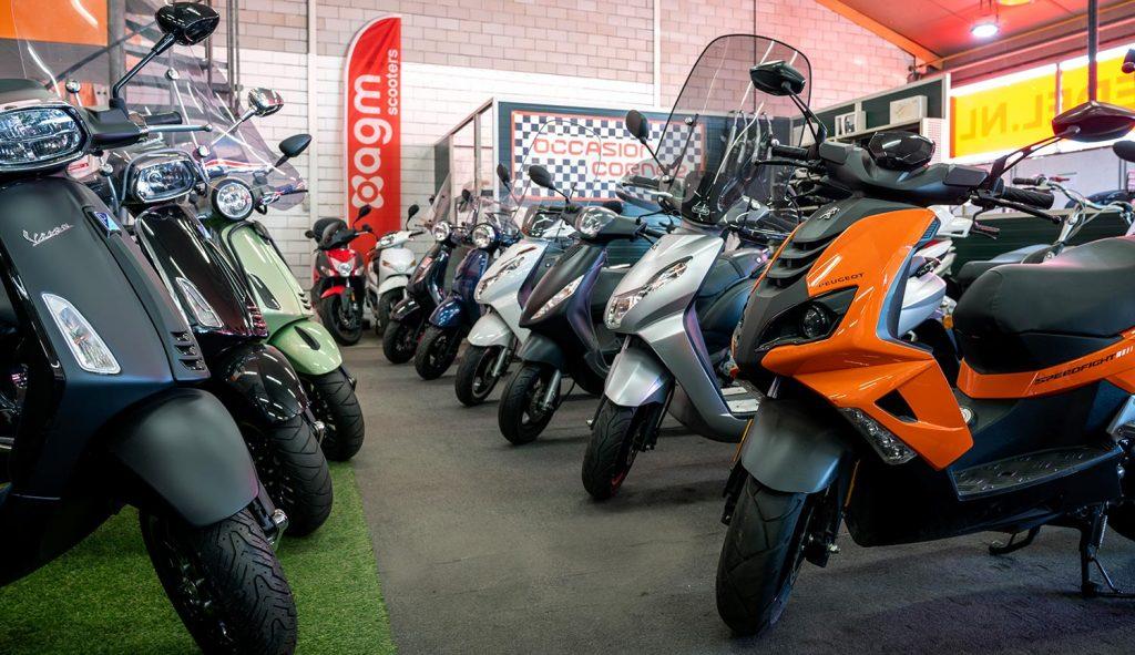 Scooter Service Hedel showroom